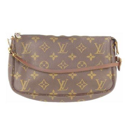 Image of Louis Vuitton pochette monogram pouch handbag