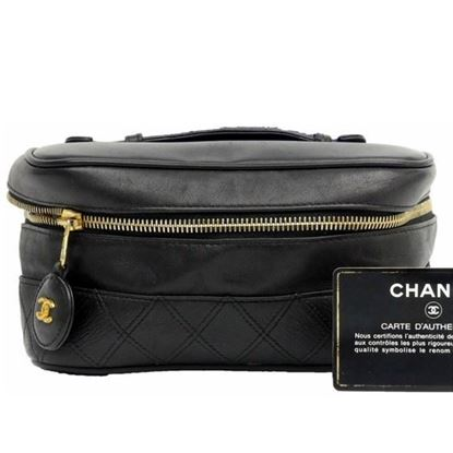 Image of Chanel cosmetic vanity bag