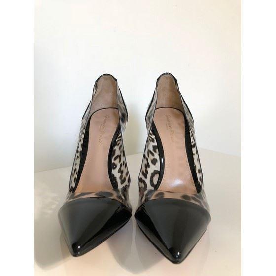 Picture of Gianvito Rossi leopard plexi heels