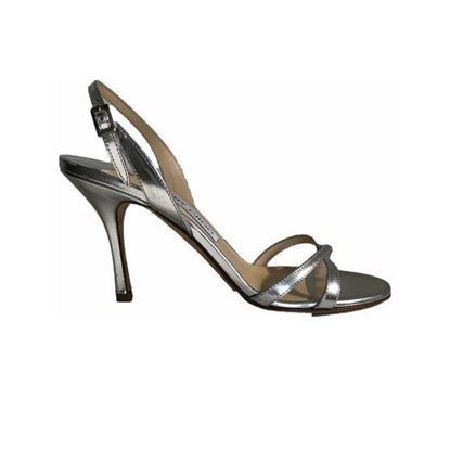 Image of Jimmy Choo silver leather sandal