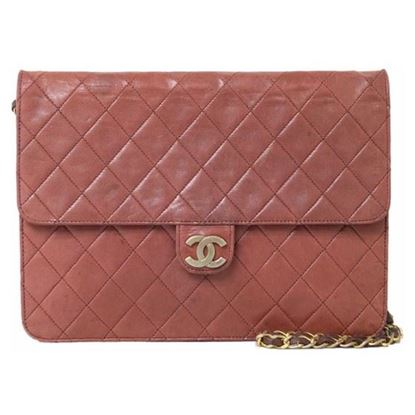 Image of Chanel classic timeless 2.55 burgundy red bag