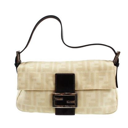 Image of Fendi Zucca Pattern  Mamma Baguette shoulder bag