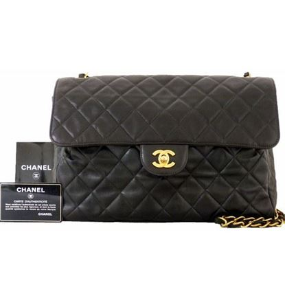 Image of Chanel 2.55 classic timeless jumbo crossbody bag