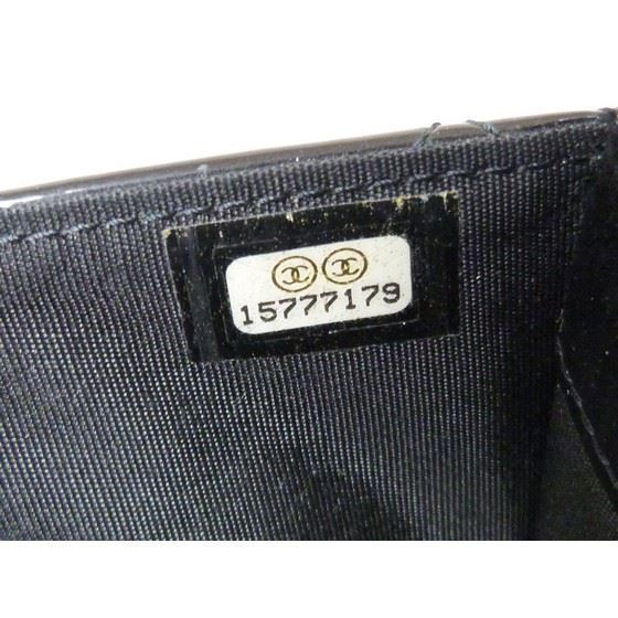 Picture of Chanel patent black leather crossbody WOC