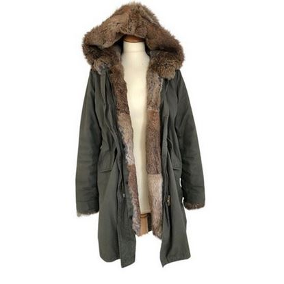 Image of Woolrich fur parka