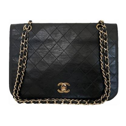 Image of Chanel timeless  classic 2.55 fullflap double chain turnlock bag