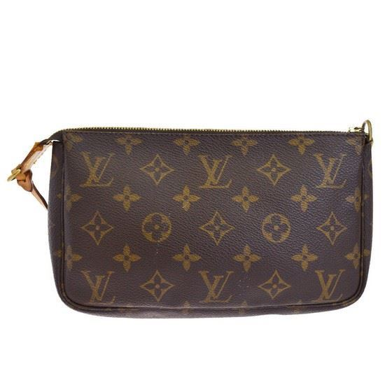 Picture of Louis Vuitton pochette accessoire monogram pouch handbag