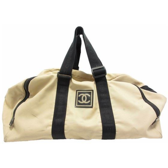 Picture of CHANEL Sport Line Ivory Black  boston travel bag