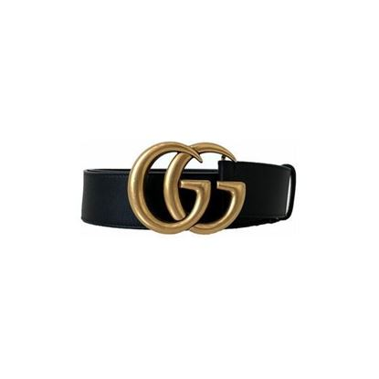 Image of Gucci Leather belt with Double G buckle