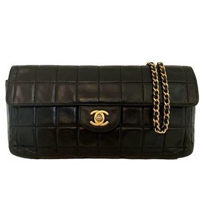 """Image of Chanel black """"Chocolate bar"""" bag"""