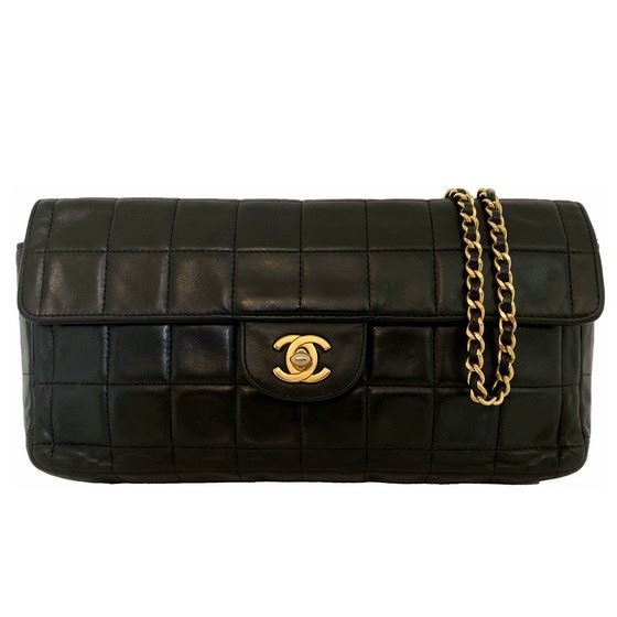 """Picture of Chanel black """"Chocolate bar"""" bag"""