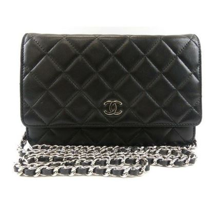 "Image of Chanel black WOC ""wallet on chain"" bag"